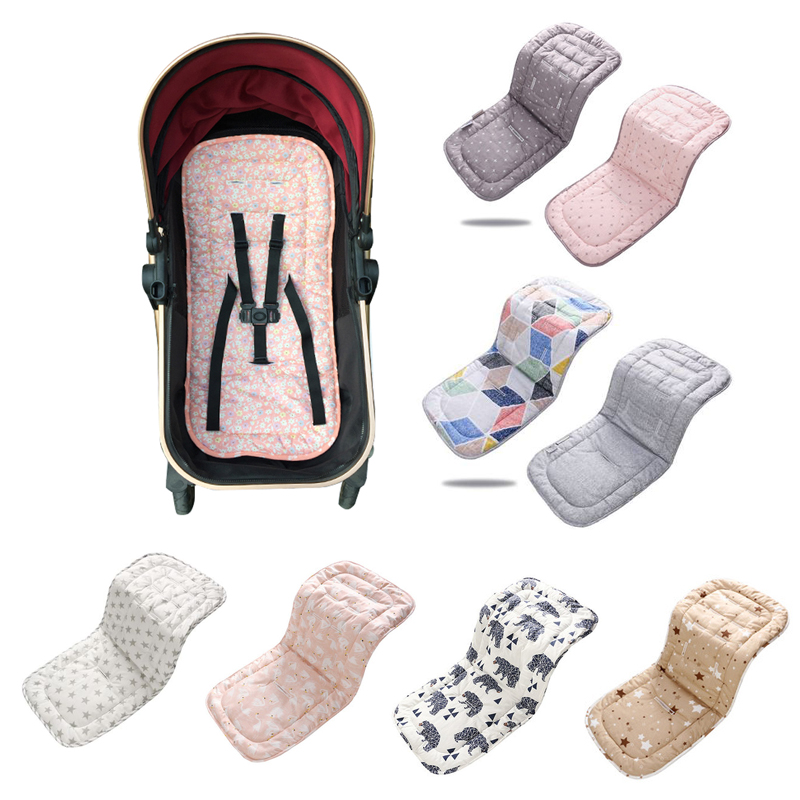 Baby Stroller Seat Cushion Cotton Four Seasons Newborn Stroller Pad Child Cart Seat Mattress Mat Baby Stroller Accessories