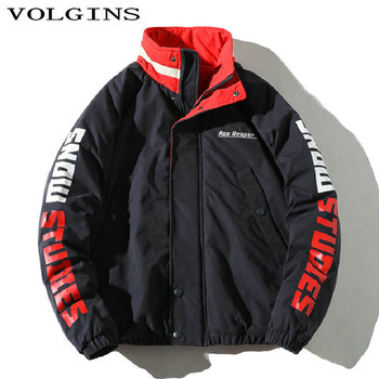 Streetwear Men Jacket Winter Waterproof Letter Printed Casual 2020 Autumn Warm Men Coat Hip Hop Parka Homme Clothes