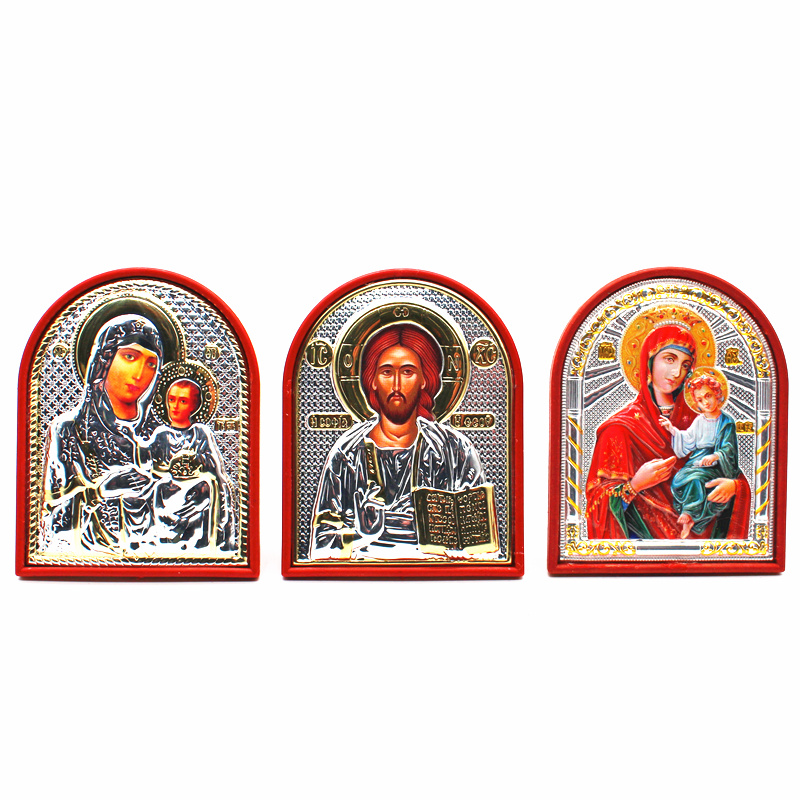 Orthodox Icon Church Utensils Lod Jesus/virgin Mary Icon
