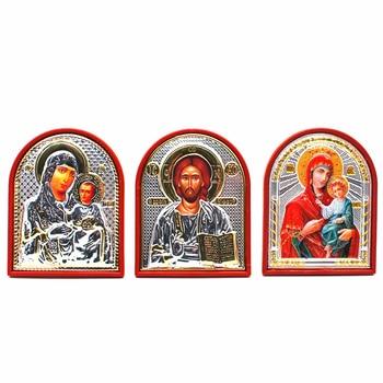 Orthodox Icon Church Utensils Lod Jesus/virgin Mary Icon