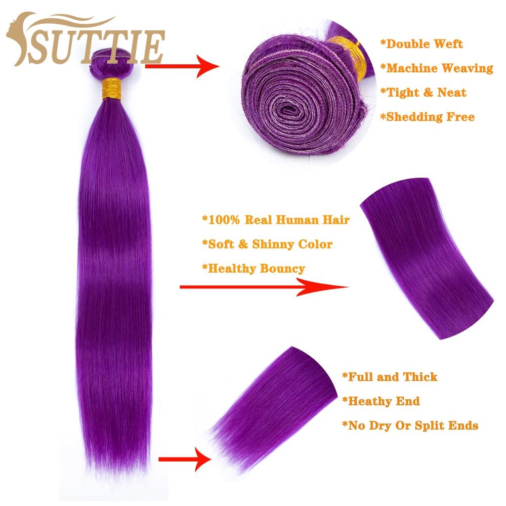 Suttie pacotes de cabelo humano virgem cor