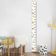 Nordic Children Height Ruler Hanging Canvas Growth Chart Kids Room Wall Decor