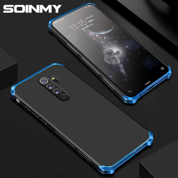 For Xiaomi Redmi Note 8 Pro Case Metal Luxury Armour Metal Aluminum PC Cover Shockproof case for Xiaomi Remi Note 8 7 6 5 Fundas
