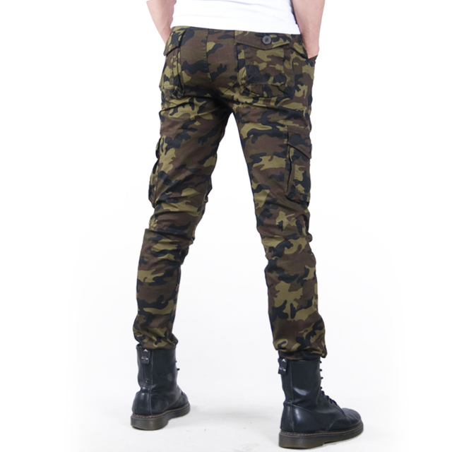 Fashion Camo Casual Military male trouser 2020 Thin Camouflage Men's Slim Spring Summer Combat Tactical Army Skinny Pencil Pant