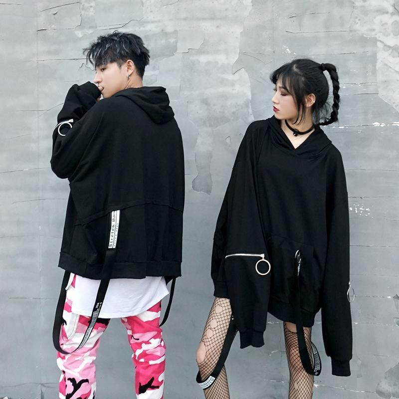 NiceMix Black Letter Sweatshirt Fashion New 2020 Winter Full Sleeve Plus Size Elegant Hooded Collar Casual Hoodies