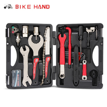 BIKE HAND 18 In 1 Multiful Bicycle Repair Tools Kit Portable Hex Key Wrench Remover Crank Puller Cycling Mountain bike Tools set bikehand 18 in 1 multifunctional bicycle tools kit portable bike repair tool box set hex key wrench remover crank puller