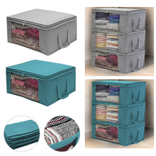 Clothing Wardrobe Organizer Bag Clothes Blanket Quilt Closet Box Bag Home Foldable Storage Organization Wash Moisture-proof