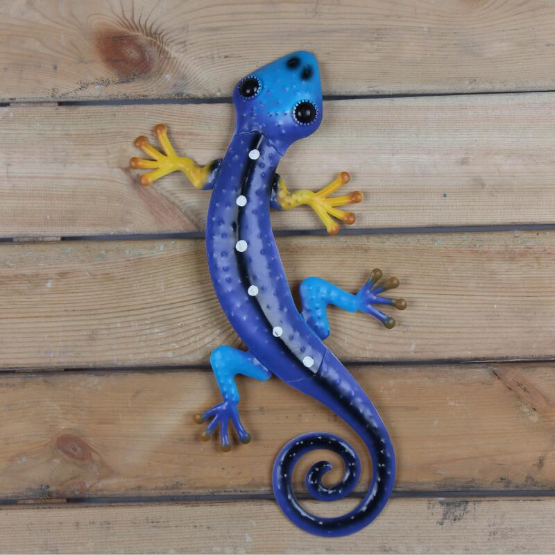 Image 4 - Liffy Metal Lizard Wall Art Outdoor Gardening Decoration for Garden Statues Animals Glass Painting Ornaments for Home Decor-in Garden Statues & Sculptures from Home & Garden