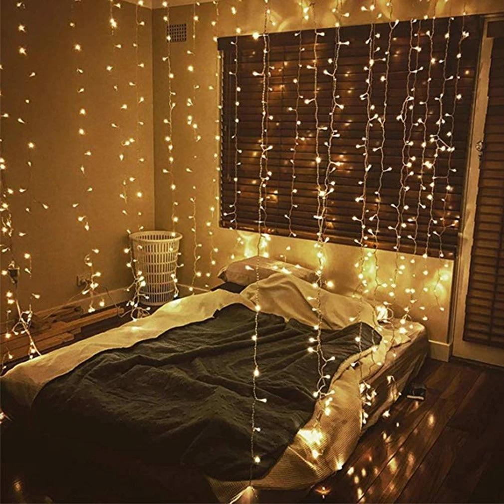 led curtain light 3 3 meters 304 light christmas lights decoration holiday lights curtain lights wedding neon lights