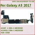 Tehxv разблокированная материнская плата протестированная хорошая замена для Samsung Galaxy A5 2017 A520F 2SIM A520F/DS