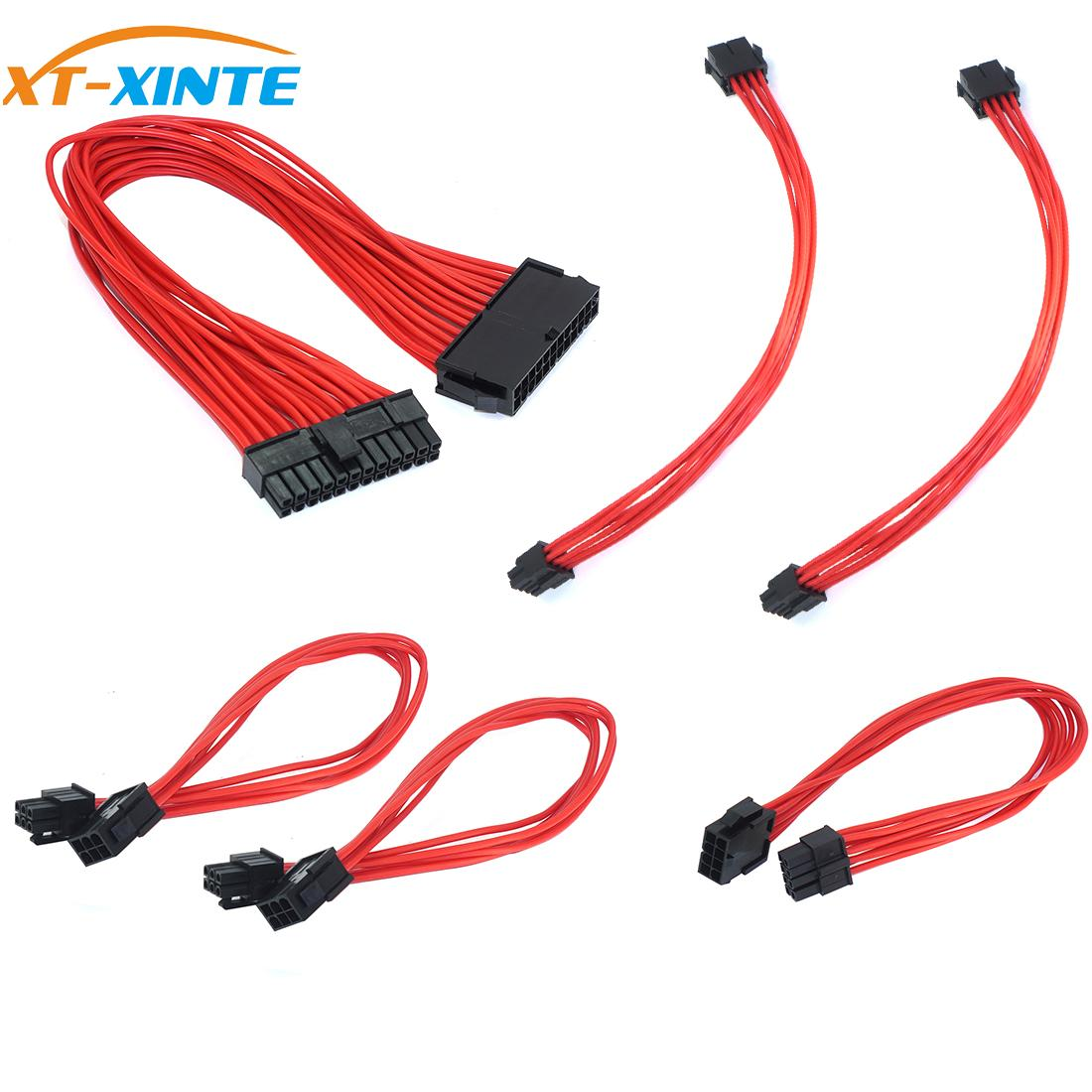 1 Set Basic <font><b>Extension</b></font> <font><b>Cable</b></font> Kit ATX <font><b>24Pin</b></font>/ EPS 4+4Pin / PCI-E 6+2Pin/ PCI-E 6Pin Power <font><b>Extension</b></font> Power <font><b>Cable</b></font> for PC Computer image