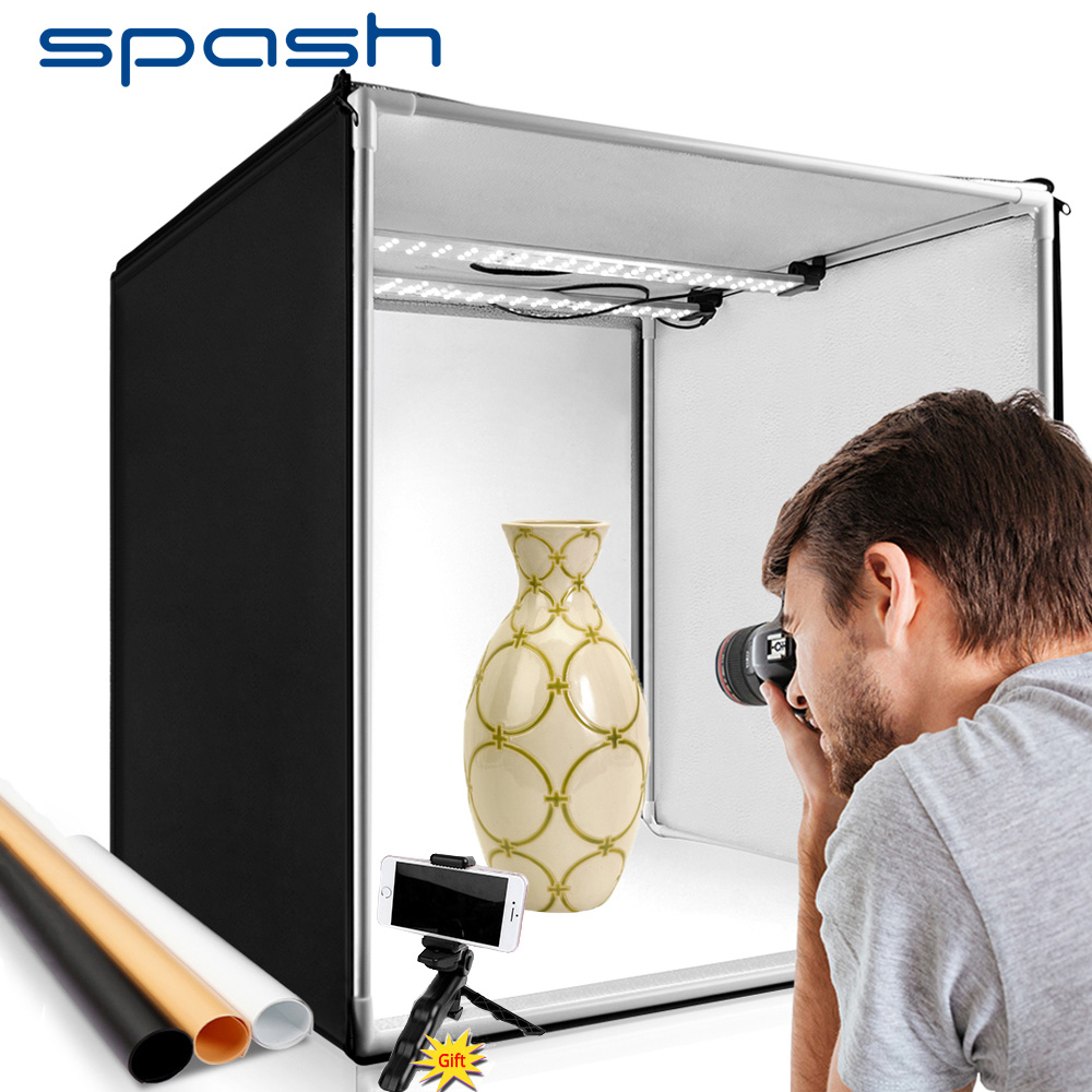Spash m80 80*80*80cm estúdio de fotografia portátil caixa luz lightbox softbox para roupas sapatos brinquedos animais de estimação fotografia tiro tenda