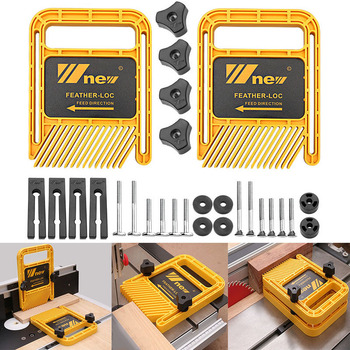 Long version Multi-purpose Feather Loc Board Set For Flip Engraving Machine Table saw band-saw Miter Gauge Slot Woodwork tools