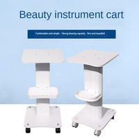 Beauty cart desktop tool car small bubble water light instrument rack base practical plastic mobile trolley
