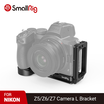 SmallRig Camera L-Bracket Plate For Nikon Z5/Z6/Z7 Camera Arca Baseplate and Side Plate Quick Release Tripod Mounting Plate 2947 smallrig quick release l plate l bracket for canon eos 6d camera vertical shooting bracket w arca style base side plate 2408