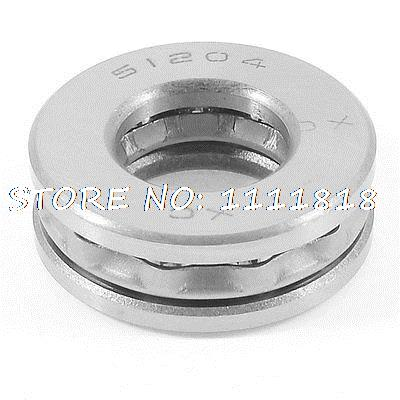 Auto 51204 Thrust Ball Bearing Silver Tone 40mm X 20mm X 13mm