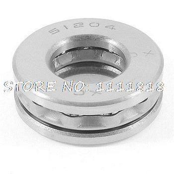 Auto 51204 Thrust Ball Bearing Silver Tone 40mm X 20mm X 13mm