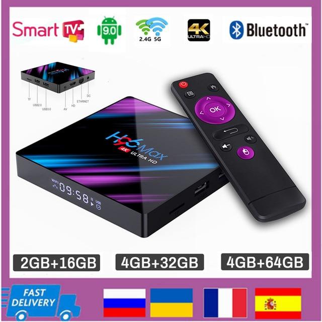 สมาร์ททีวีกล่องAndroid 9.0 RK3318 Quad Core 4K 5G WiFi 2GB 16GB 4GB 32GB 64GB H.265 Media Player 3DวิดีโอTVBOX 2021ชุดกล่องด้านบน