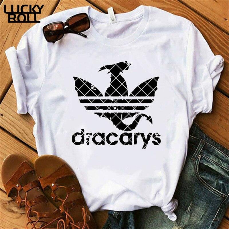 Dracarys T-Shirt Women Clothes 2019 Female Mother of Dragon Tops Tee Harajuku khaleesi Camisetas Daenery Dragon summer Clothing(China)