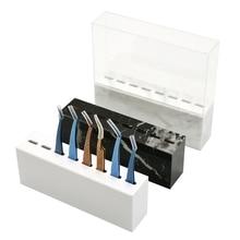 Q1QD 8 Holes Acrylic Eyelash Tweezers Storage Rack Eyelash Extension Tools Organizer