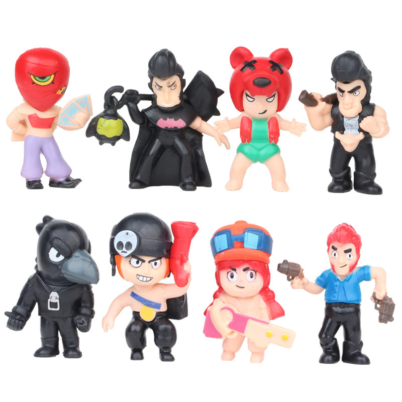 Brawl Star Wars Hero Action Figure Model Toys Brawl Game Cartoon PVC Kids Toy Model Doll Collection Gift For Boy Girl