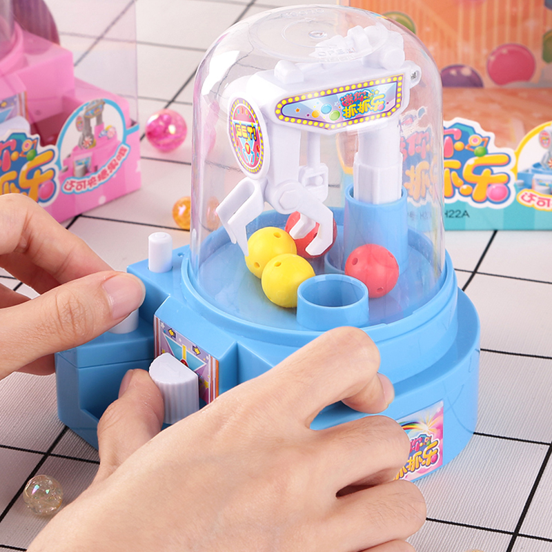 Best Selling Children's MINI Grab And Catch Clip Candy Machine Play House Catch Ball Machine Small Capsule Machine Toy Gift