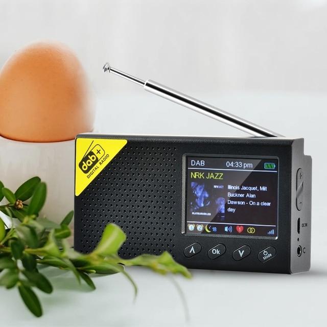 Przenośny Bluetooth 5.0 Radio cyfrowe DAB/DAB + i odbiornik FM akumulator lekka biuro w domu Radio
