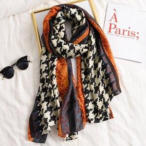 Женский шарф бандана, зимний хлопковый шарф с леопардовым принтом, шали и накидки, теплые длинные палантины, хиджаб, 2019