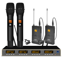 цена на Professional UHF wireless microphone system handheld microphone lavalier microphone for stage microphone wireless