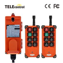 Industrial Remote Controll Switches F21-E1B Hoist Crane Control Lift Crane 2 transmitters 1 receiver 220V 380V 110V 12V 24V 36V f21 e1b include 2 transmitters 1 receiver 6 buttons 1 speed hoist crane remote control wireless radio uting remote controller