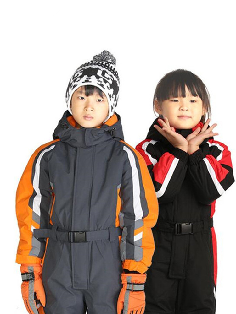 Ski Suit Kids One-piece Ski Jacket Girls Snowboard Jacket Boys Ski Jumpsuit Winter Sport Suit Kids Skiing Clothes Snowboarding