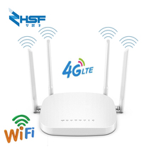 4G LTE router 300Mbps wireless CPE 3G / 4G LTE mobile Wifi hotspot with Sim card slot and 4Pcs external antenna, up to 32 users