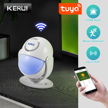 KERUI Tuya Smart Home Security WIFI Alarm System Works With Alexa 120dB Motion Detector Door Sensor Surveillance Camera 2