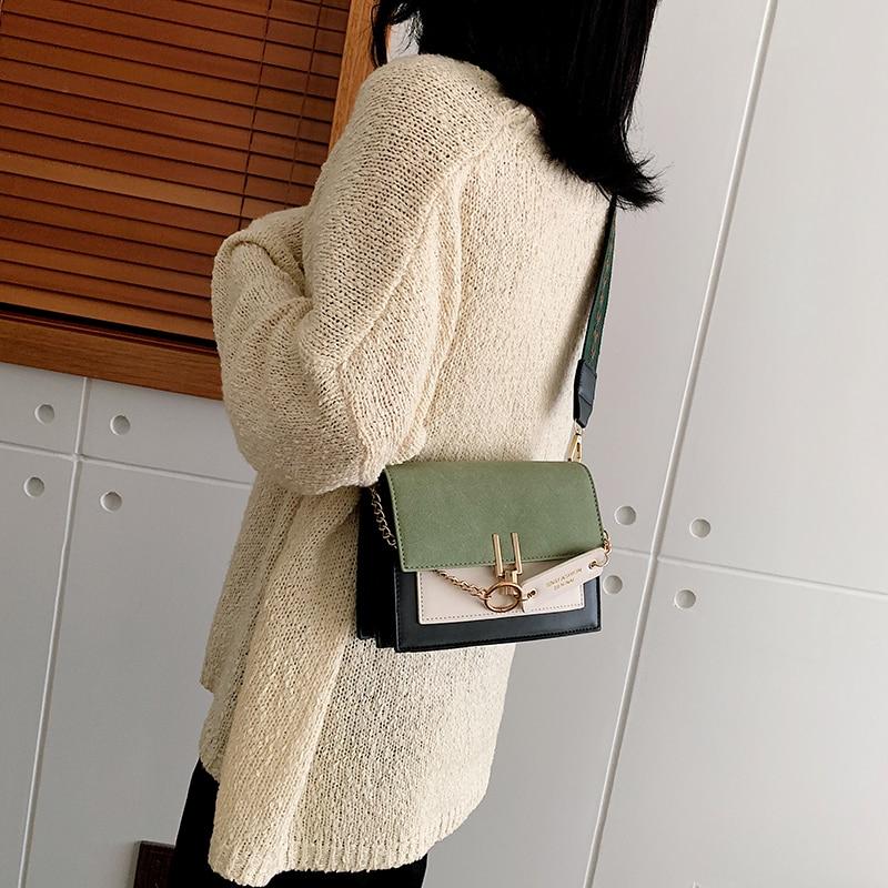 Mini əl çantaları qadın moda ins ultra atəş retro geniş çiyin - Çantalar - Fotoqrafiya 5