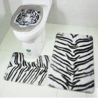 Коврик для туалета коврик в ванную коврик для ног Декор прочные товары для дома 2017 новый принт с животными для ванной комнаты