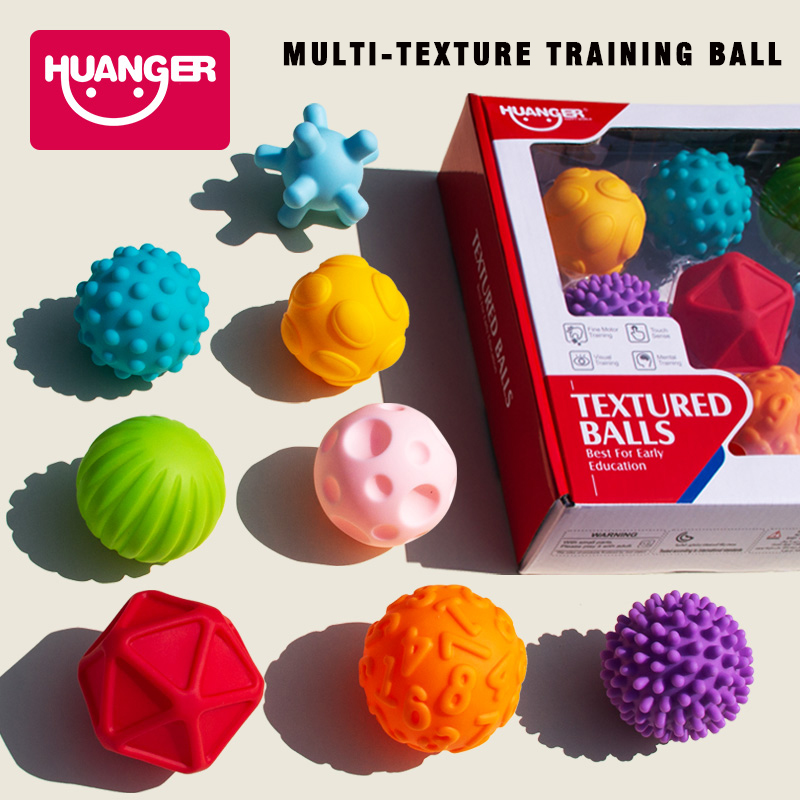 Baby Touch Hand Ball Toys Rubber Textured Touch Ball Hand Sensory Children Ball Toys Bath Hand Ball Toy For Children Training