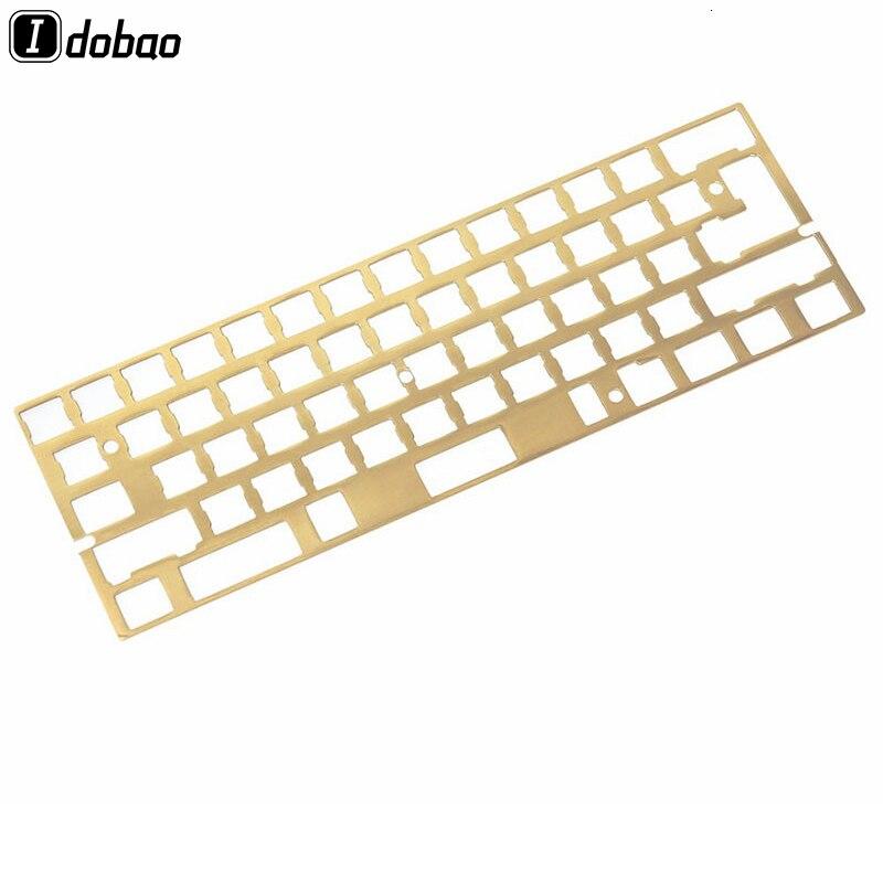 Arrivée délié finition laiton 60% clavier sablage bricolage mécanique clavier plaque de montage Gh60 Xd60 Cherry Mx