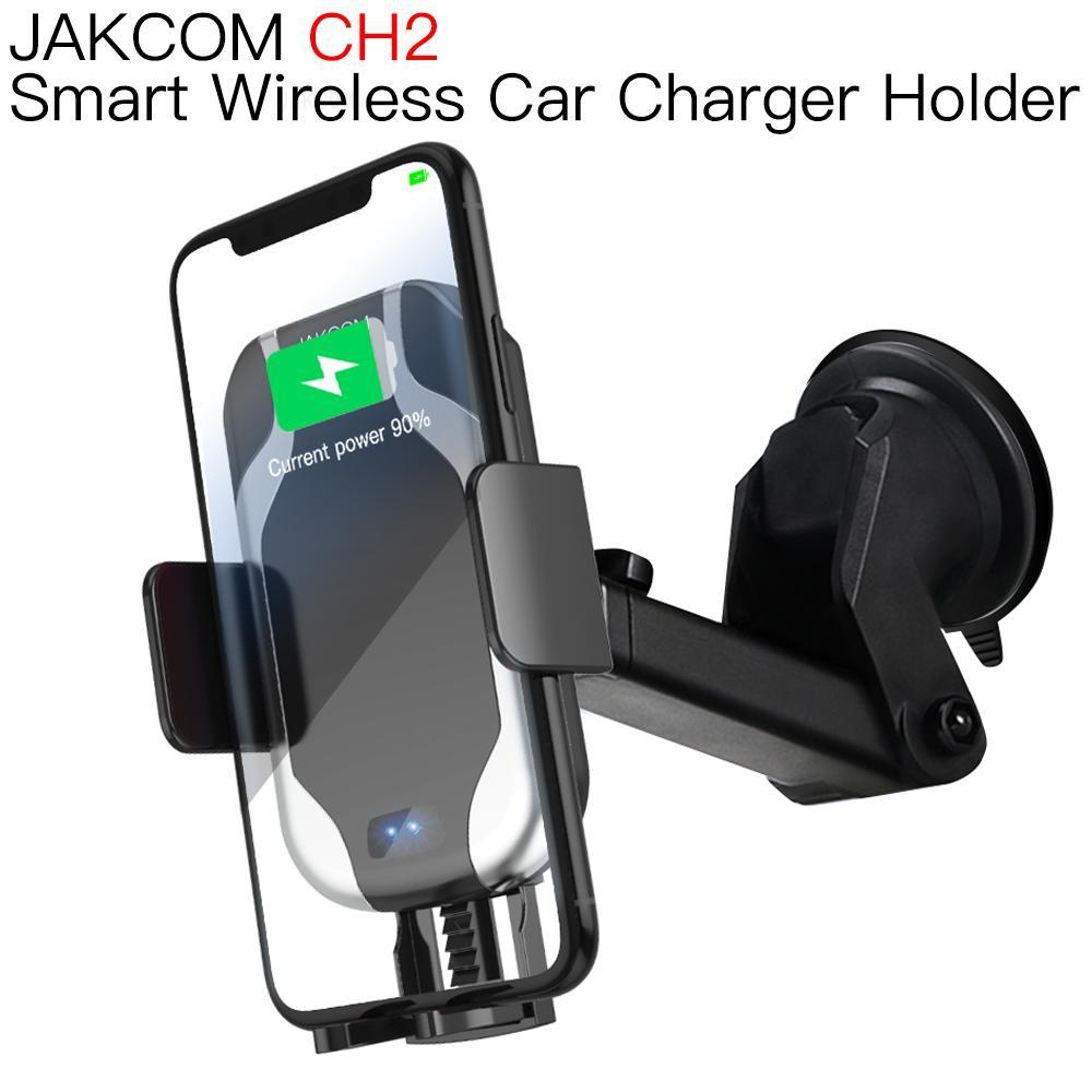 JAKCOM CH2 Smart Wireless Car Charger Mount Holder Best gift with find x cargador original 12v usb qi wireless charger image
