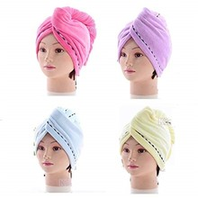 Microfiber Bath Towel Hair Dry Quick Drying Lady Bath towel soft shower cap hat for lady man Turban Head Wrap Bathing Tools #R20 lx 9009 cozy fiber bath towel shower cap blue