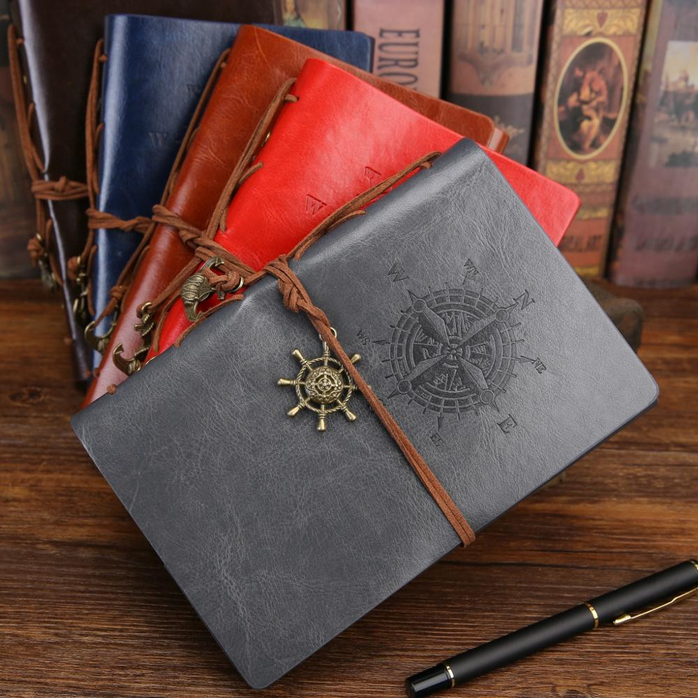 Viking Guidepost Retro Notebook Diary Notepad Vintage PU Leather Book Stationery Gift Traveler Journal Planner Graffiti Bujo