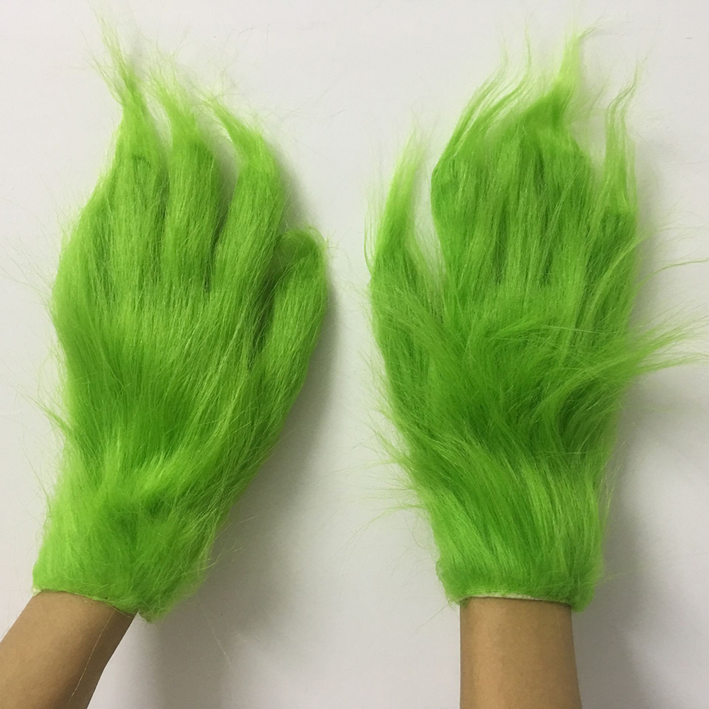 Funny Geek Stole Christmas Wool Cosplay Glove XMAS Costume Props For Kids Adult Gloves