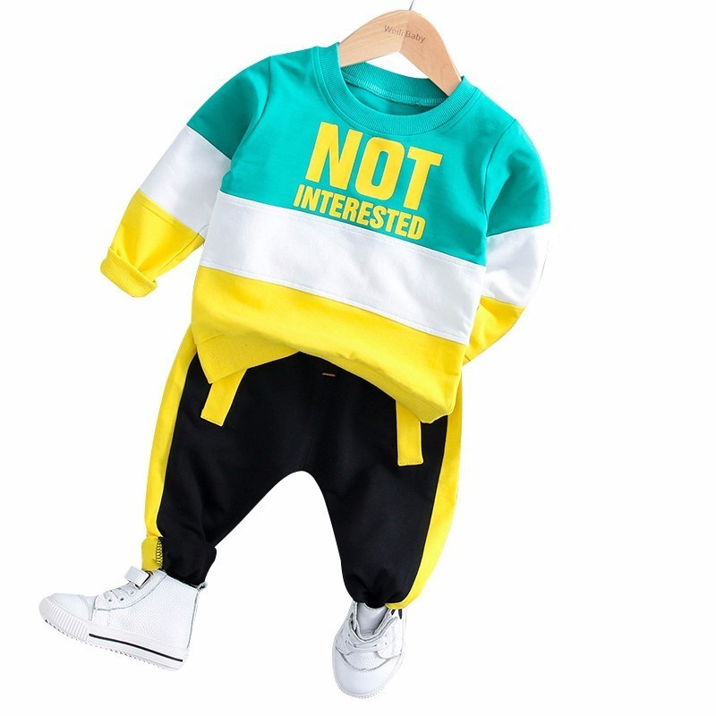 New Spring Baby Girl Boys Clothing Infant Clothes Suits Casual Sport Cotton T Shirt Pants 2PCS/Sets Kid Child Toddler Tracksuits