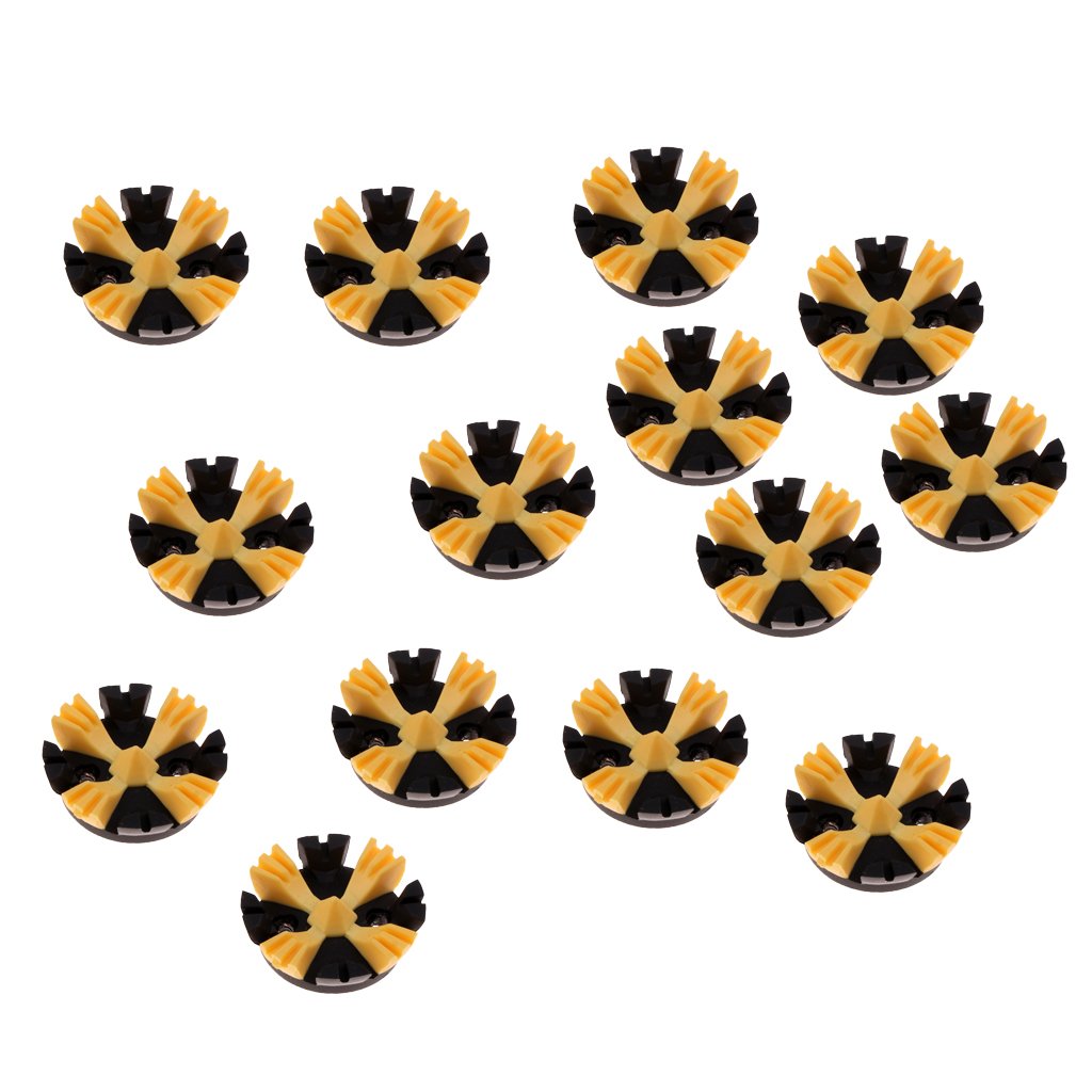 14Pcs Rubber Metal Golf Spikes Replacement For Most Golf Shoes