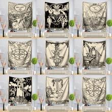 Karty do tarota Tapestry Wall wiszące astrologia wróżbiarstwo narzuta mata plażowa dekoracyjna gobelin