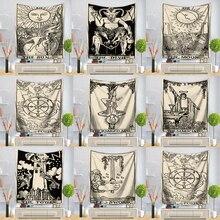 Tarot kartı goblen duvar asılı astroloji kehanet yatak örtüsü plaj Mat dekoratif goblen