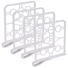 Closet-Shelf Kitchen-Cabinets Plastic Dividers-Unbreakable for Pastries And Shelves 4-Pack