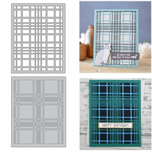 Intricate Line Grid Cover Frame Metal Cutting Dies Stencil For DIY Scrapbooking Album Crafts Paper Cards 2020 Hot Sale merry christmas words flower stripe hot sell hot foil plates for scrapbooking diy paper cards crafts decoration new 2019