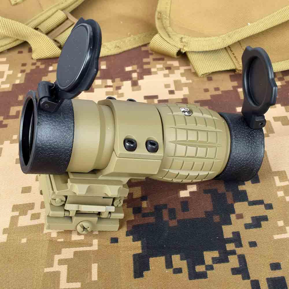 tatico optica red dot sight 3x lupa escopo com flip up cover apto para 20mm rifle
