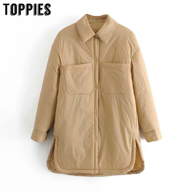 Toppies 2021 New Woman Jacket Khaki Blouse Design Coat Spring Mujer Chaqueta Thin Woman Parkas 2