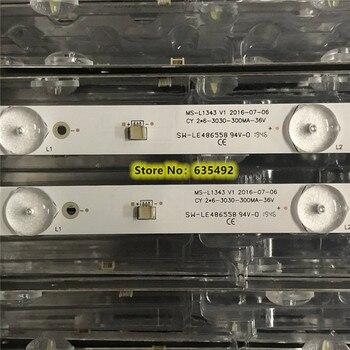 6pcs 580mm LED Backlight strip 6 lamps For Tv JL.D32061330-081AS-M FZD-03 E348124 HM 32v input MS-L1343 L2202 L1074